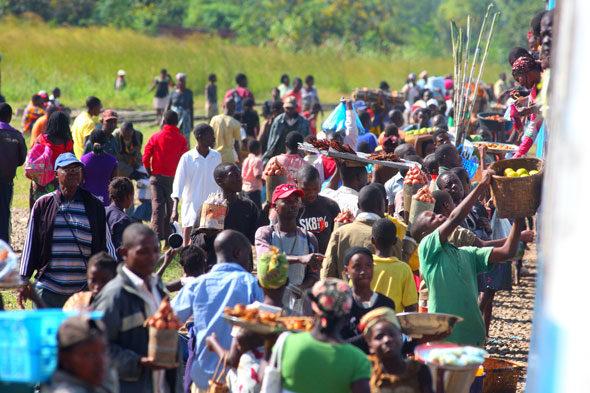 A viaxe de tren a través da África