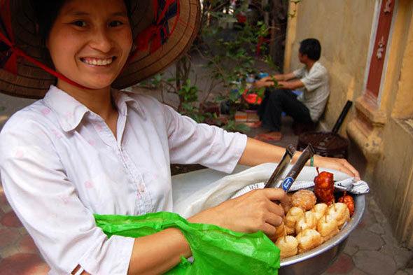 """""""Guía"""" Xantar nas rúas de Hanoi"""