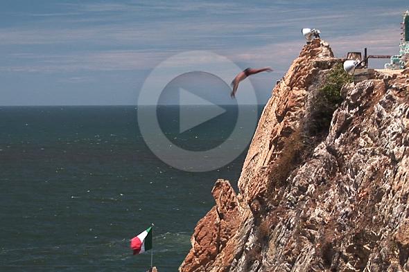 Acapulco: vliegende mannen