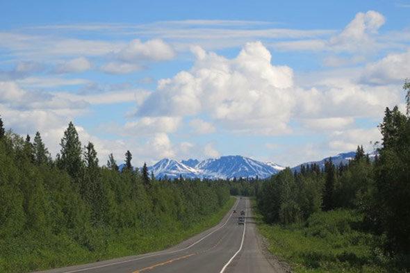 Don Quijote en bicicleta por Alaska
