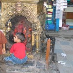 Altar junto al templo de Jagannath, en Kathmandú