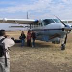 Avioneta en el Serengeti Tanzania