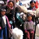 Campesinas tibetanas