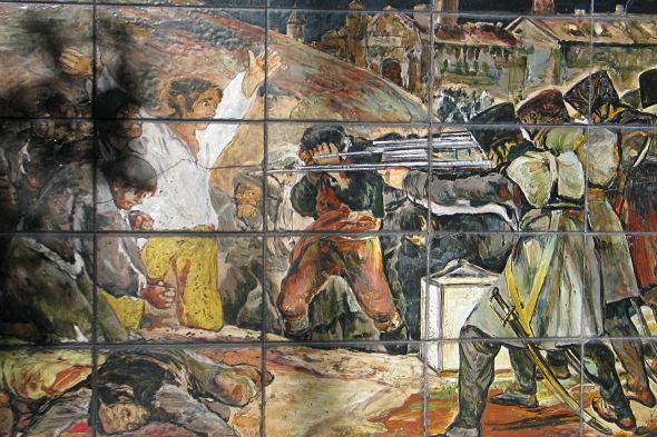O cemiterio dos heroes pintado por Goya
