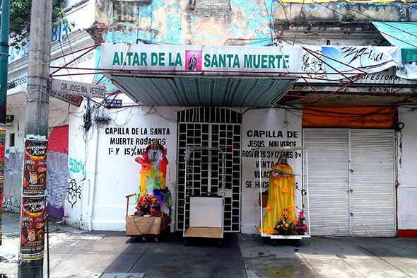 Isus Malverde Kapela i Santa Muerte, Saints narcos
