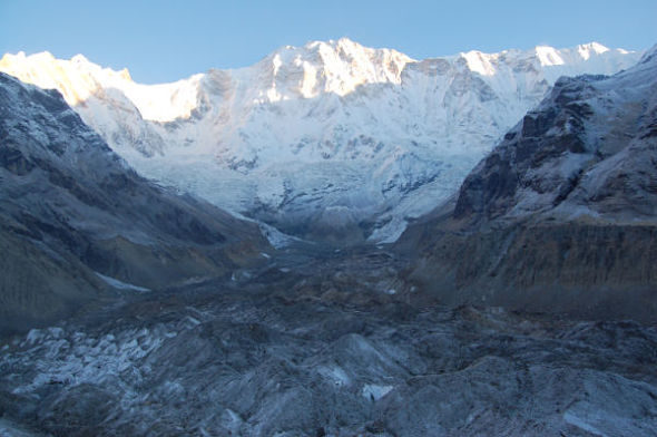 Glaciar Gangapurna: aliado contra o mal da altitude