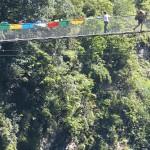 El puente mas largo de Nepal sobre el río Bhote Kosi