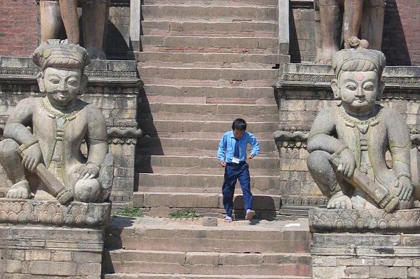 バクタプール: la vajilla de domingo del Valle de Kathmandú
