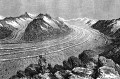 Glaciar Aletsch grabado 1873