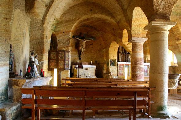 Potters von Pisuerga: die rätselhafte Fels gehauene Kirche