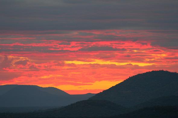 La mejor puesta de sol que vi en África