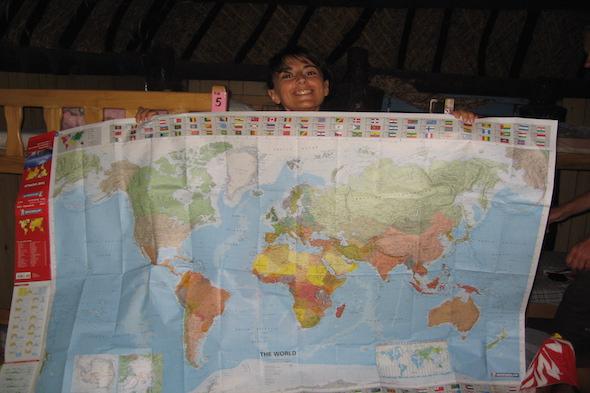 Fiji Time y el mapa doblado