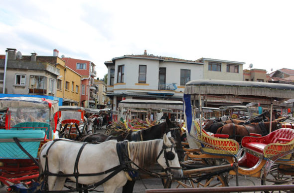 Büyükada: atasco en la isla sin coches