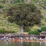 Malawi pescadores barcas