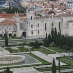 Monasterio de los Jeronimos desde el monumento a los descubridores