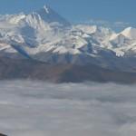 La cara norte del Everest, desde el Pang-la