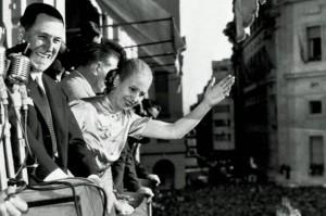 Perón y Evita en los tiempos felices