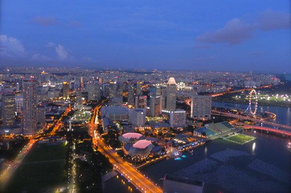 Singapore: Stad mensen gelukkig