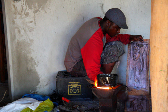 Vilanculos: malaria e da casa de artesáns