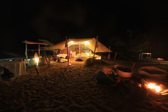 ヴィラは、インドか: きれいなテント海