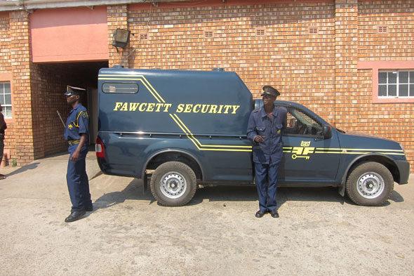 Overvallen geleden door de politie in Afrika