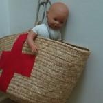 Capazo con el que se subían las muñecas al hospital antiguamente