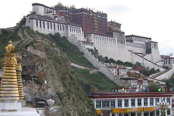 Lhasa: die alte Verbotene Stadt in Tibet