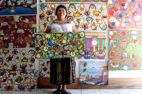 La pintora del Lago Atitlán