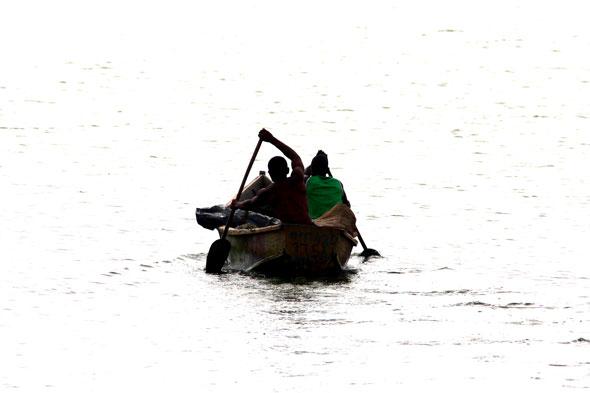 Un día nublado en el Kazinga Channel